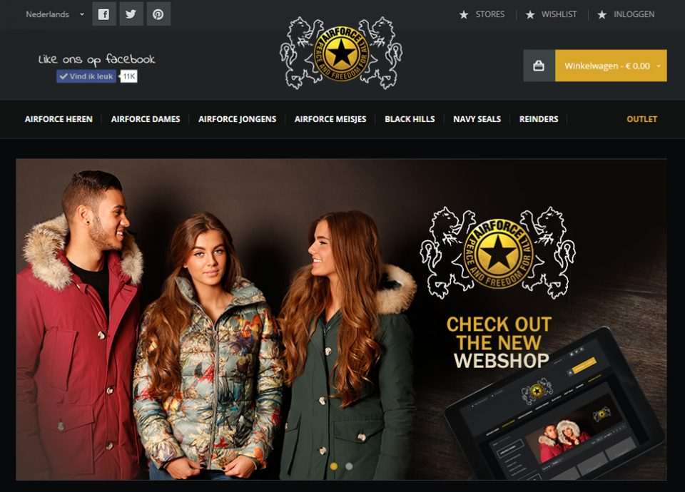 magento-webshop-airforce-1